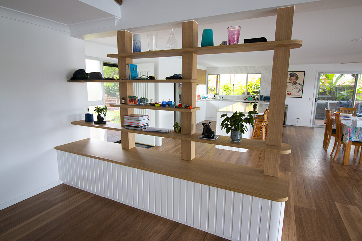 kitchen lounge divider wall feature builder gold coast