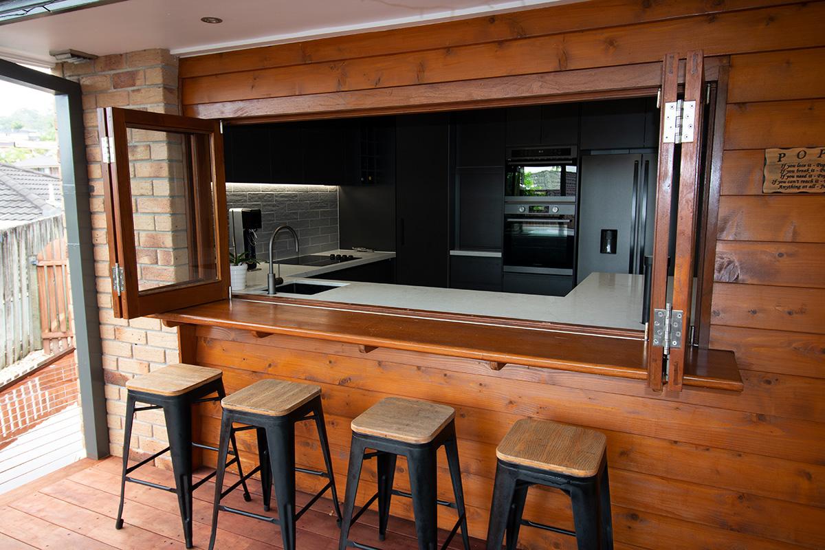 kitchen window outdoor bar hatch conversion gold coast