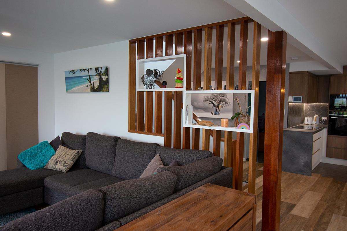 wooden feature wall room divider builder gold coast