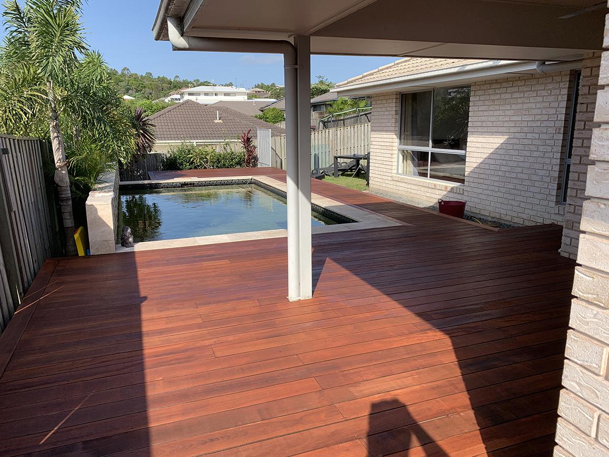 Pool surround decking builder gold coast