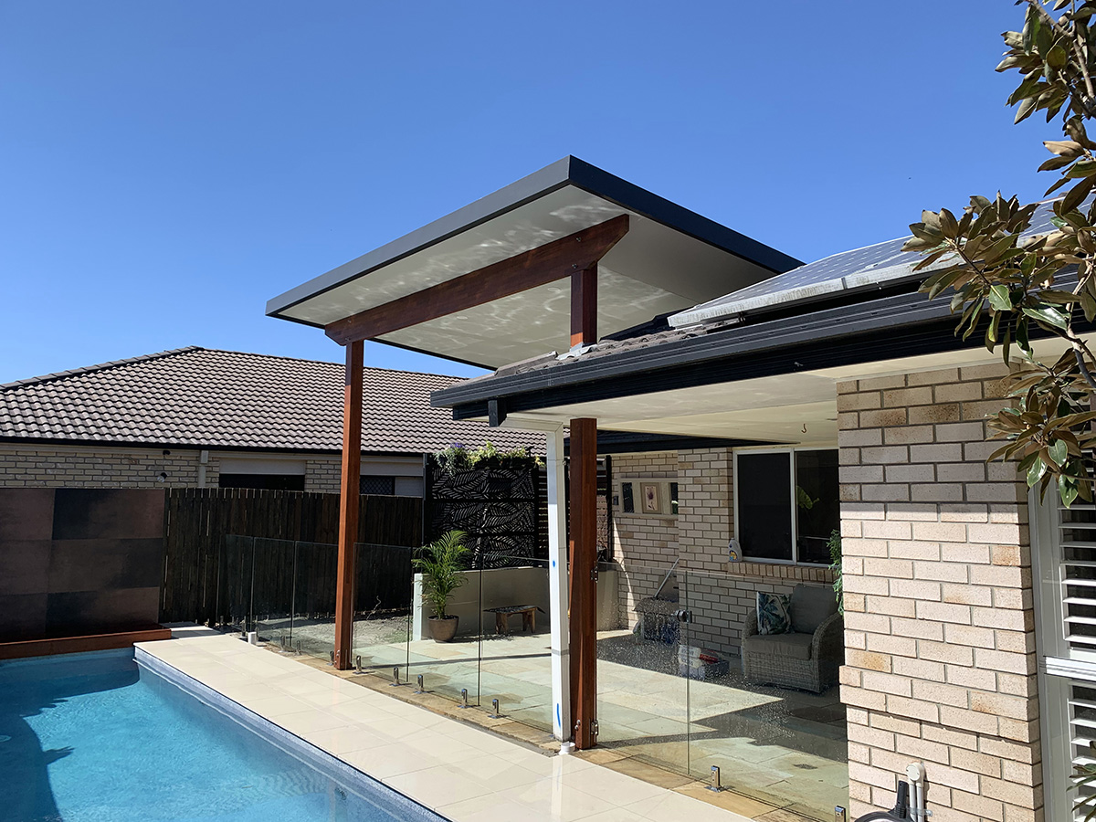 Skillion flyover roofing builder gold coast