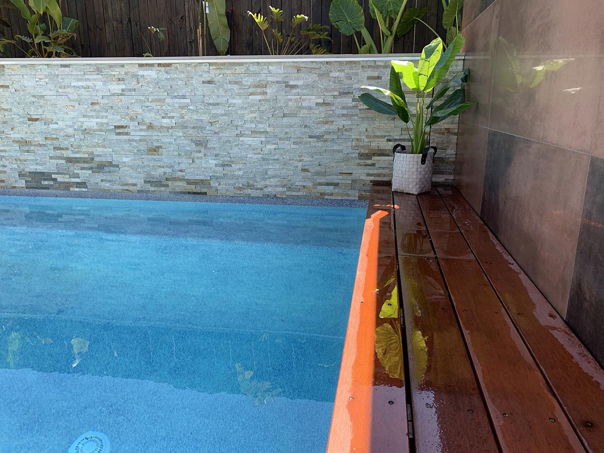 custom pool surround feature builder gold coast