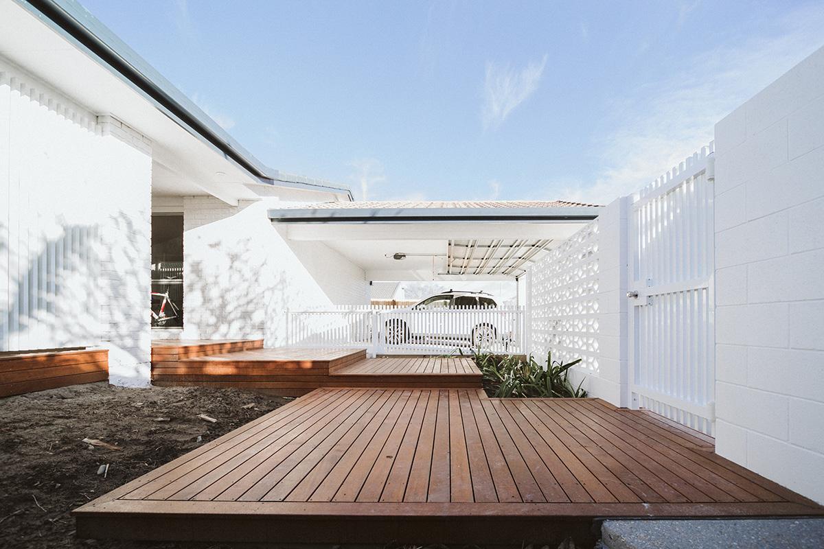 floating deck steps with LED lighting builder gold coast