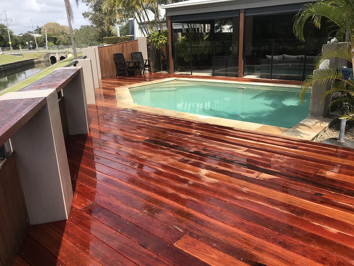 timber pool decking surround builder gold coast